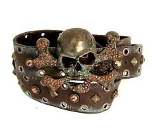 Leatherock Custom Skull Rhinestone Belt NEW  Size 32