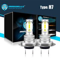 2PCS H7 LED Headlight Fog Lamp 70W Car Head Light Bulb Super Bright 6000K White