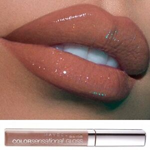 Maybelline Beige Nude Brown Lip Gloss Shine Sparkle 630 Coffee Kiss
