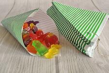 50 Papiertüten Spitztüten grün-weiß gestreift CandyBar 19cm Hochzeit Bremen