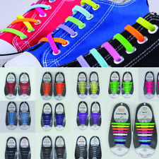 16Pcs Novelty Unisex No Tie Shoelaces Silicone Elastic Sneakers Lazy Shoe Laces