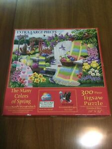 The Many Colors of Spring 300 Piece Jigsaw Puzzle COMPLETE