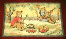 Vintage Three Bears Picnic Rug Carpet Disney