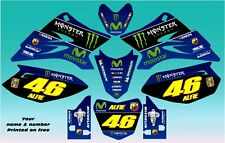 Yamaha TTR 50 Movistar Rossi 46 style decal / graphics kit. FREE UK POSTAGE