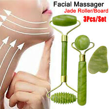 Natural Rose Quartz Facial Jade Stone Roller Beauty Massage Tool Face Massager ]