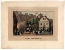 Helgoland - Altkolorierte Lithographie 1840 SELTEN!