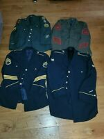 Lot Of 4 Military Dress Coats