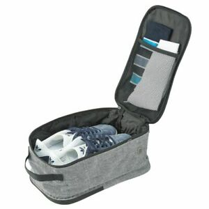 mDesign Fabric Travel Shoe Bag Organizer  - Gray