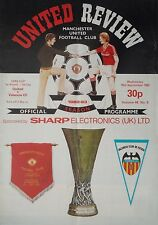 Programm UEFA Cup 1982/83 Manchester United - Valencia CF