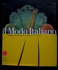 Il modo italiano Design avant garde livre Skira Musée des beaux arts 400 pages