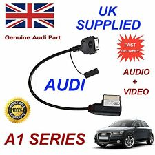 For AUDI A1 4F0051510R iPhone 4s iPod Audio Video Cable Red MY 2012 - 2014