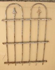 "Antique Wrought Iron Garden Fence Gate Salvage 34"" x24"" Victorian Architectural"