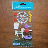 Carnival Fair Stickers Scrapbook Embellishments 3D Jolee's Boutique