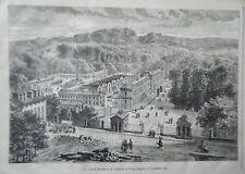 GRAVURE SUR BOIS 19ème  MANUFACTURE DE SEVRES INAUGUREE LE 17 NOVEMBRE 1876