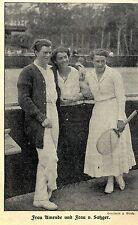Damentennis Frau Amende und Frau v.Satzger Historische Aufnahme von 1914