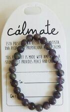 Pulsera  de bolas amatista natural  10mm amuleto /Amethyst bracelet