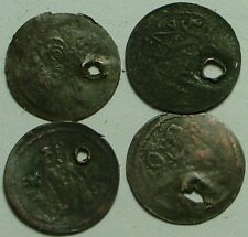 Lot of 4 original Islamic Ottoman coins not cleaned you identify 18 Century AD