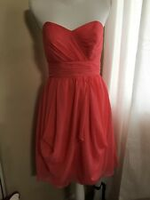 Alfred Angelo Coral Strapless Dess Size 4