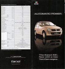 Perodua Kencil EZi car (made in Malaysia) _2003 Prospekt / Brochure