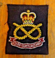 UNITED KINGDOM, BLAZER POCKET PATCH, SOUTH STAFFORDSHIRE REGIMENT