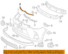 TOYOTA OEM 12-16 Prius C Front Bumper Grille Grill-Seal To Hood 5339552050