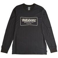 BILLABONG MENS T SHIRT.NEW TRADEMARK BLACK COTTON LONG SLEEVED TEE TOP 9W 3/19