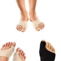 1Pair Toe Corrector Hallux Valgus Big Bunion Splint Straightener Foot Relief UK