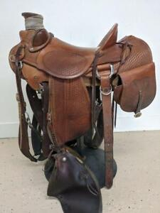 """15"""" Used D. Hensley Western Ranch Wade Saddle 377-2232"""