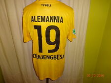 "Alemannia Aachen nike matchworn camiseta 2012/13 ""Geller"" + nº 19 olajengbesi talla L"