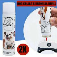 2x Antibark Citronella Spray Refill Dog Collar No Barking Training AU POST