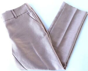 Women's Pants ANN TAYLOR size 00P rose Gold Shimmer Ankle $90 NEW (ra98)