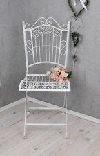 Garden Chair White Outdoor Country House Style Folding Metal New