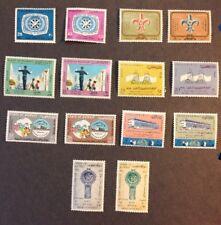 kuwait 1966-67 7 VF Mint Hinged 7 Sets