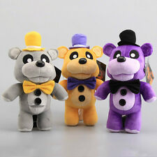 Set of 3pcs FNAF Five Nights at Freddy's Golden FREDDY FOXY Chica Plush Doll Toy