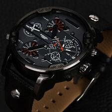 Fashion Stainless Steel Sport Analog Quartz Military Luxury Men's Wristwatches