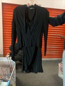 Vintage Two piece skirt suit black size 7/8 Sexy Dress Suit Eveningwear