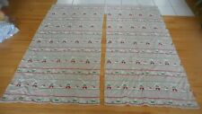 Fieldorest Vintage Cloth Curtains Pair Windmill Holland Dutch Boy Girl Brown Ahb