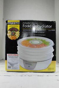 Presto Dehydro Electric Food Dehydrator 4 Nesting Trays Model 06300 See Through