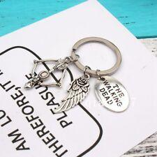 Round The Walking Dead Cudgel & Letter keychain Pendant Fashion Jewelry keychain