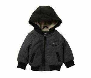 URBAN REPUBLIC NEW $85 Faux Shearling Lined Varsity Jacket Baby Boy 18M