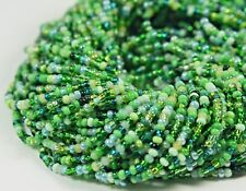"Czech Glass Seed Beads Mixture Size 10/0 "" RAIN FOREST "" 1 Hank"