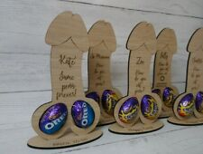 Creme Egg Holder Willy shaped. Rude, Bride to be. Laser engraved personalised