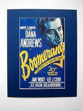 Edad película de cine presión detrás de passepartouts efecto boomerang 1947 estados unidos 50x40 cm 461
