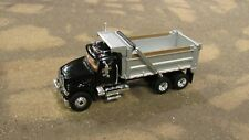 CUSTOM FIRST GEAR MACK GRANITE BLACK CAB & SILVER DUMP BOX DUMPTRUCK TRUCK 1:64/