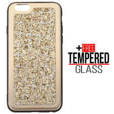 Voor iPhone 6 6S Bling Glitter Sparkly Soft Silicone Case Shockproof Cover Goud