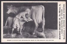 c1910 Meadow Gold Butter Cow at Iowa State Fair, Beatrice Creamery Des Moines IA