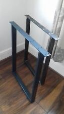 2 metal table legs dining table bench legs coffee table Industrial UK Steel pair