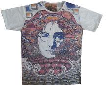 Mirror Men T shirt John Lennon The Beatles Music Band Rock Cotton Short Sleeve m