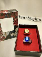 USA Seller Cosplay Black butler Kuroshitsuji Ciel Phantomhive 2 Ring Set & Box
