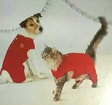 Cat or Dog Holiday Red Wonderland Pajamas Sz XS up to 10 lbs NEW w Tags FREE TOY
